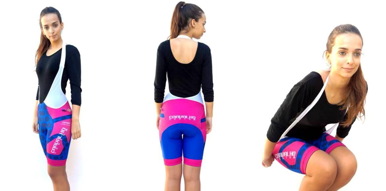 Halterneck bib shorts