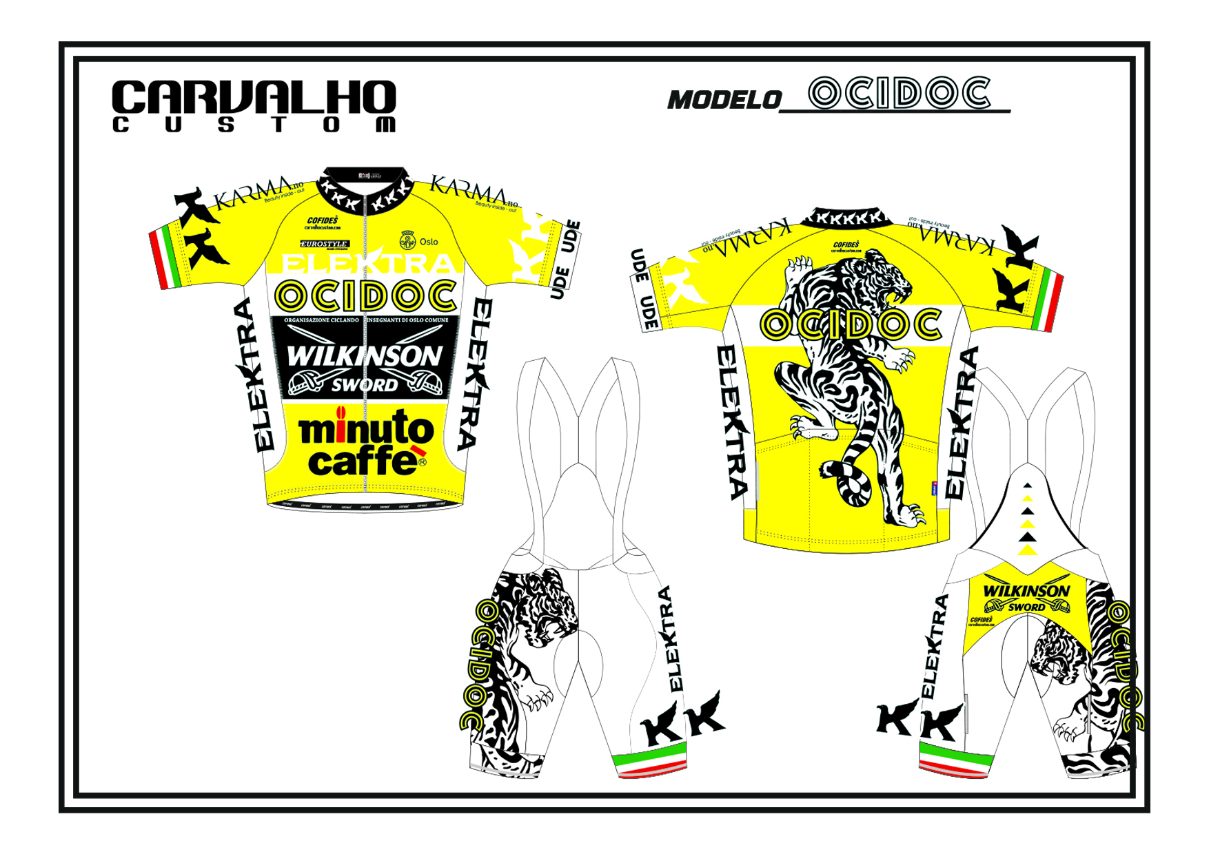 custom cycling jersey & shorts